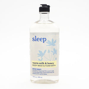 Sleep Warm Milk & Honey Body Wash & Foaming Bubble Bath