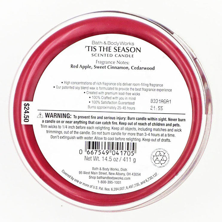 Bath & Body Works 'Tis The Season Candle