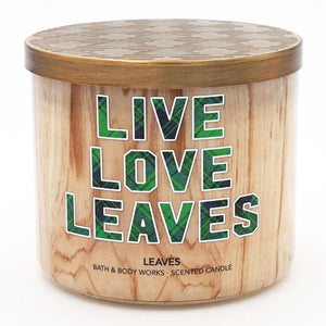 Bath & Body Works Live Love Leaves Candle