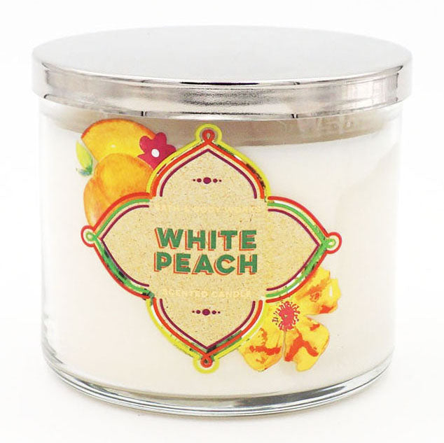 Bath & Body Works White Peach Candle