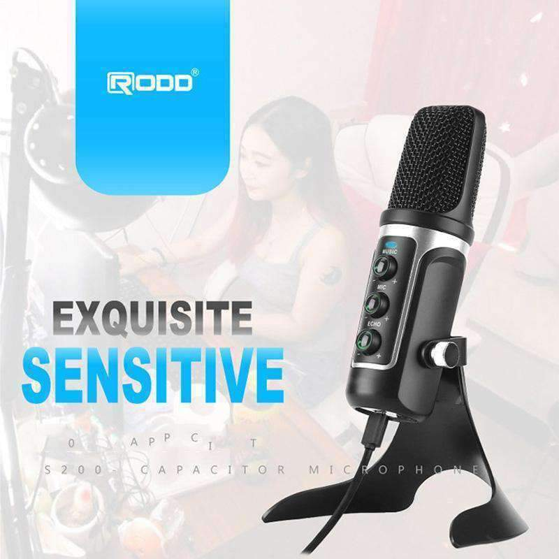 USB ECHO Sound Recording Condenser Microphone with
