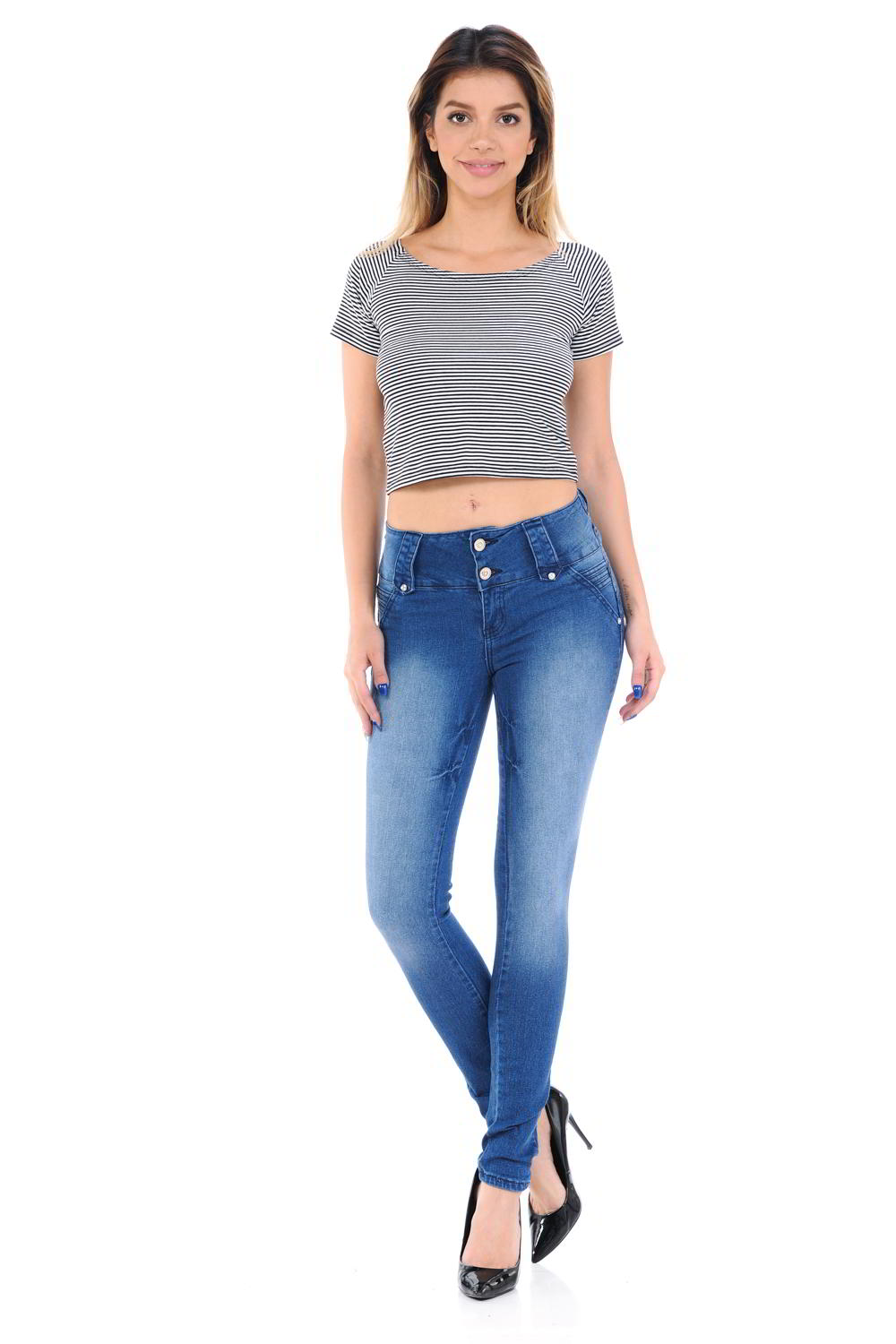 M.Michel Jeans Colombian, Push Up - 6F112