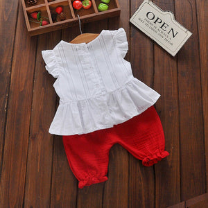 2pcs Outfits Set for Bady Girl Ruffled