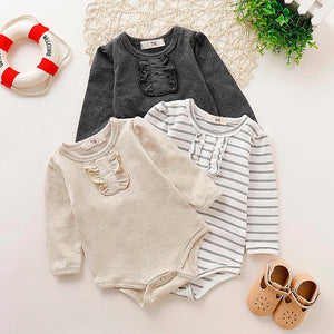 Fashion Bodysuit Solid Pullover Baby