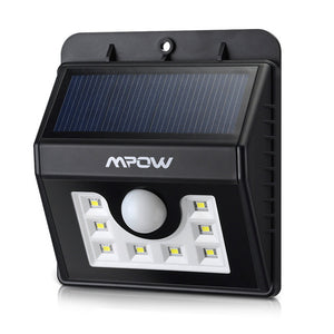 IP65 Solar Power Weatherproof Waterproof 8 LED Outdoor Lamp