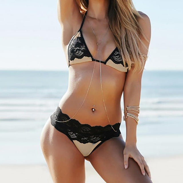 New Arrival Women Sexy Leaves Bikini Set Push-Up