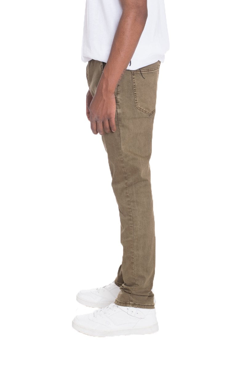 STRETCH DENIM- KHAKI