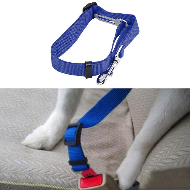 Car Safety Adjustable Harness Collar for Dogs - Available in Many Colors