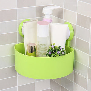 Suction Cup Wall Mounted Bathroom Storage Shelf - Available in Many Colors