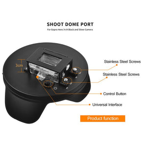 6 inch Dome Port for GoPro - Black