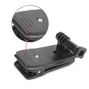 360 Rotary Backpack Clip/Clamp Mount for GoPro - Black