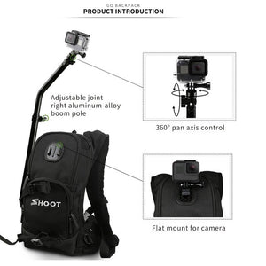 Motorcycle Bicycle Selfie Bag/Backpack Attachment for GoPro - Black