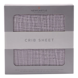 Cool Grey Crib Sheet