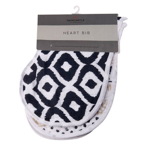 World Wanderer Heart Bibs (Set of 2)