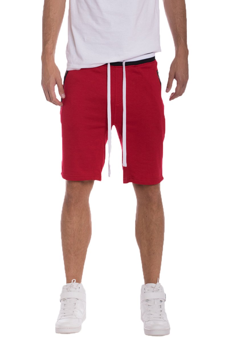 BRANDON FRENCH TERRY SHORTS- RED