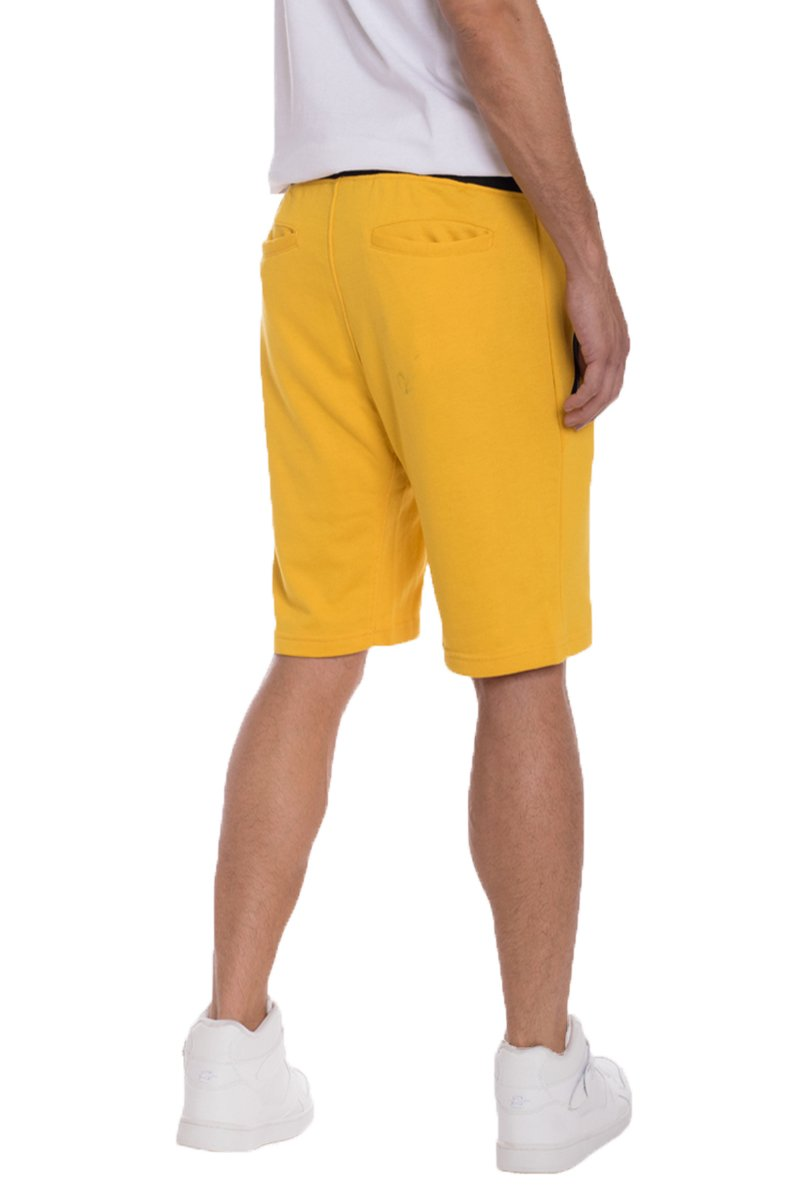 BRANDON FRENCH TERRY SHORTS- YELLOW