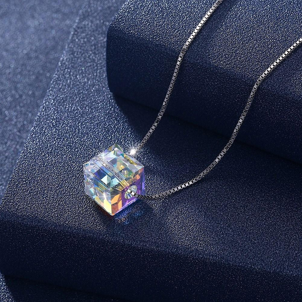 Sterling Silver Aurora Borealis Cubed Life