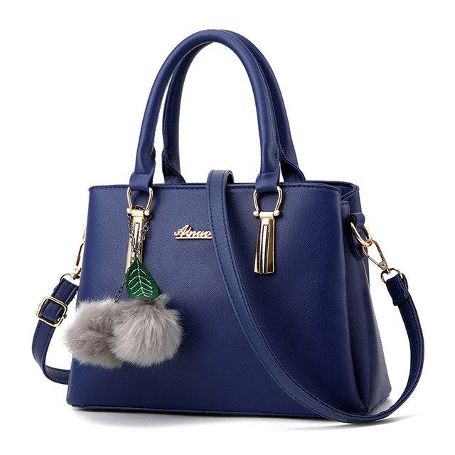 Women's Luxury Tote Handbag with Fur - Available in Many Colors