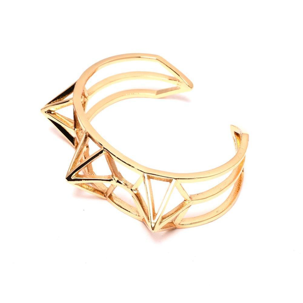 Crowned Energy Cuff Bangle