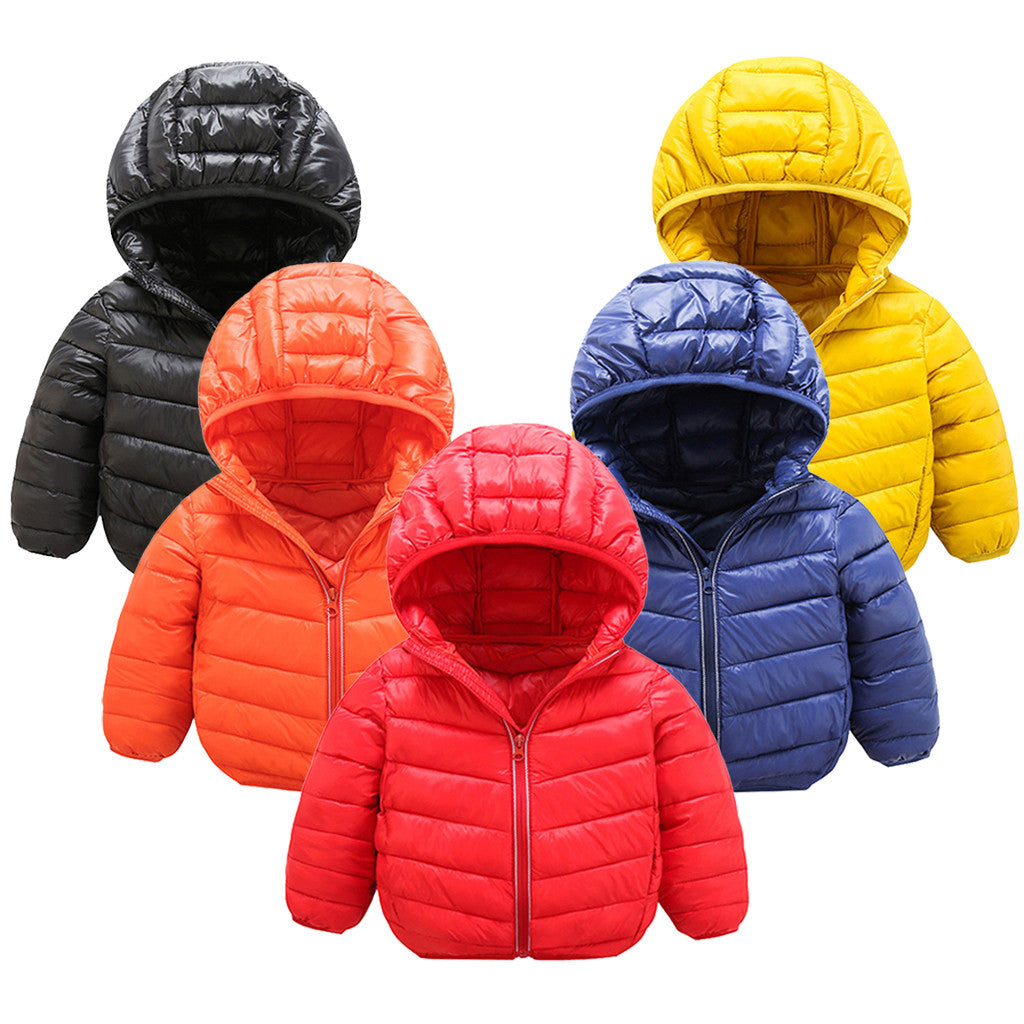 Windproof Toddler Baby Girls Boys Winter Solid