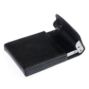 Men's Business Card & Credit Card Metal Case - Black