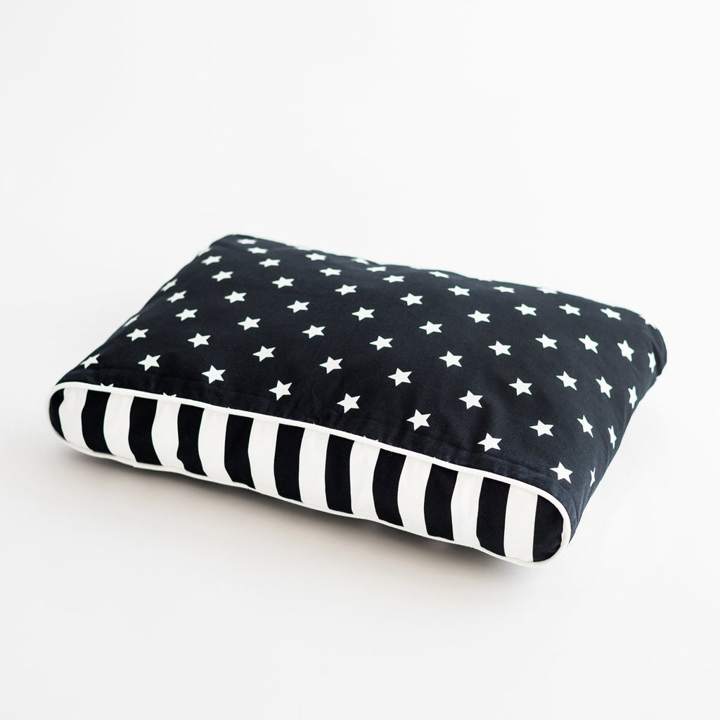 Stars and Stripes Dog Bed - Black