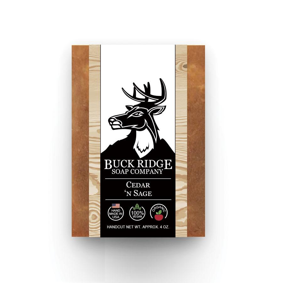 Buck Ridge Natural Handmade Vegan Soap - Cedar 'n Sage