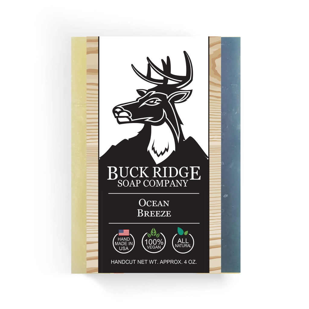 Buck Ridge Natural Handmade Vegan Soap - Ocean Breeze