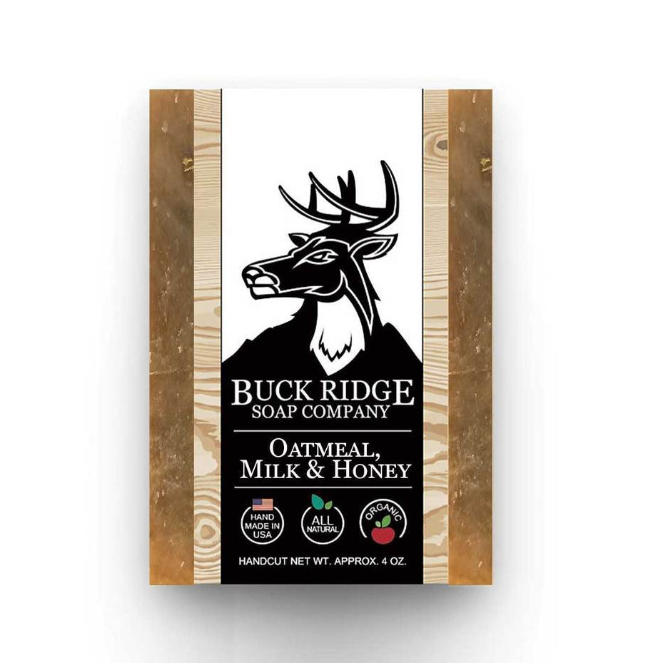 Buck Ridge Natural Handmade Vegan Soap - Oatmeal Milk and Honey
