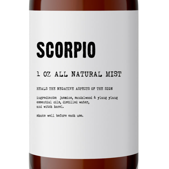 Scorpio - All Natural Body Mist - Made with Essential Oils