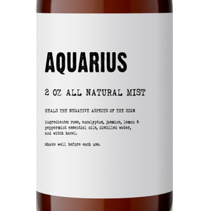 Aquarius - All Natural Body Mist - Made with Essential Oils