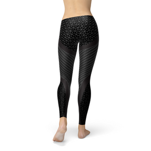 Women's Carbon Fiber Sports Leggings