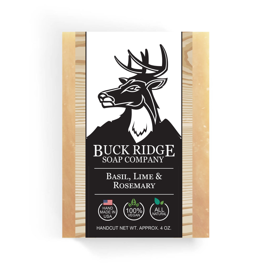 Buck Ridge Natural Handmade Vegan Soap - Basil, Lime and Rosemary