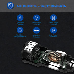 3.4A Dual USB Car Charger Adapter with Voltmeter