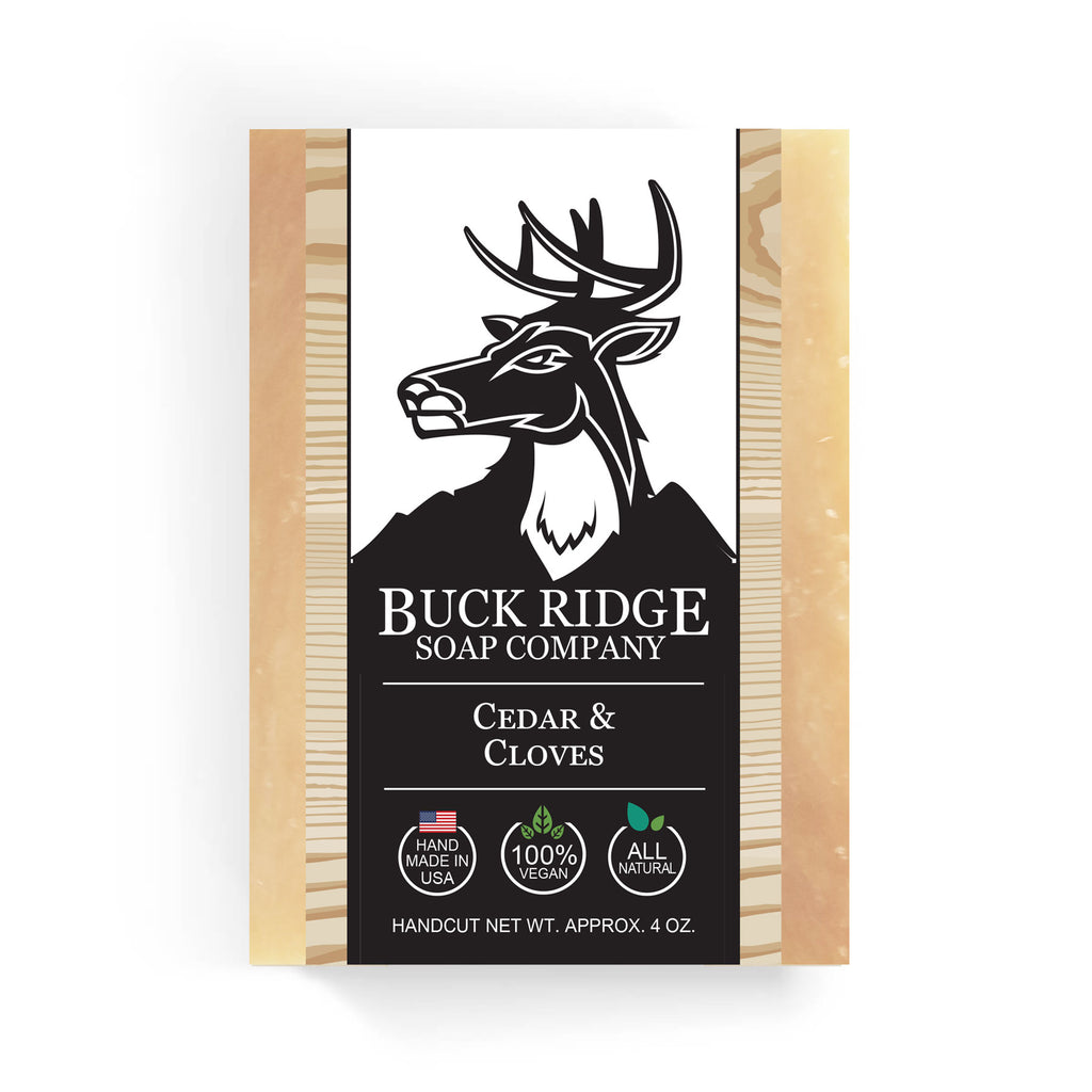 Buck Ridge Natural Handmade Vegan Soap - Cedar and Cloves