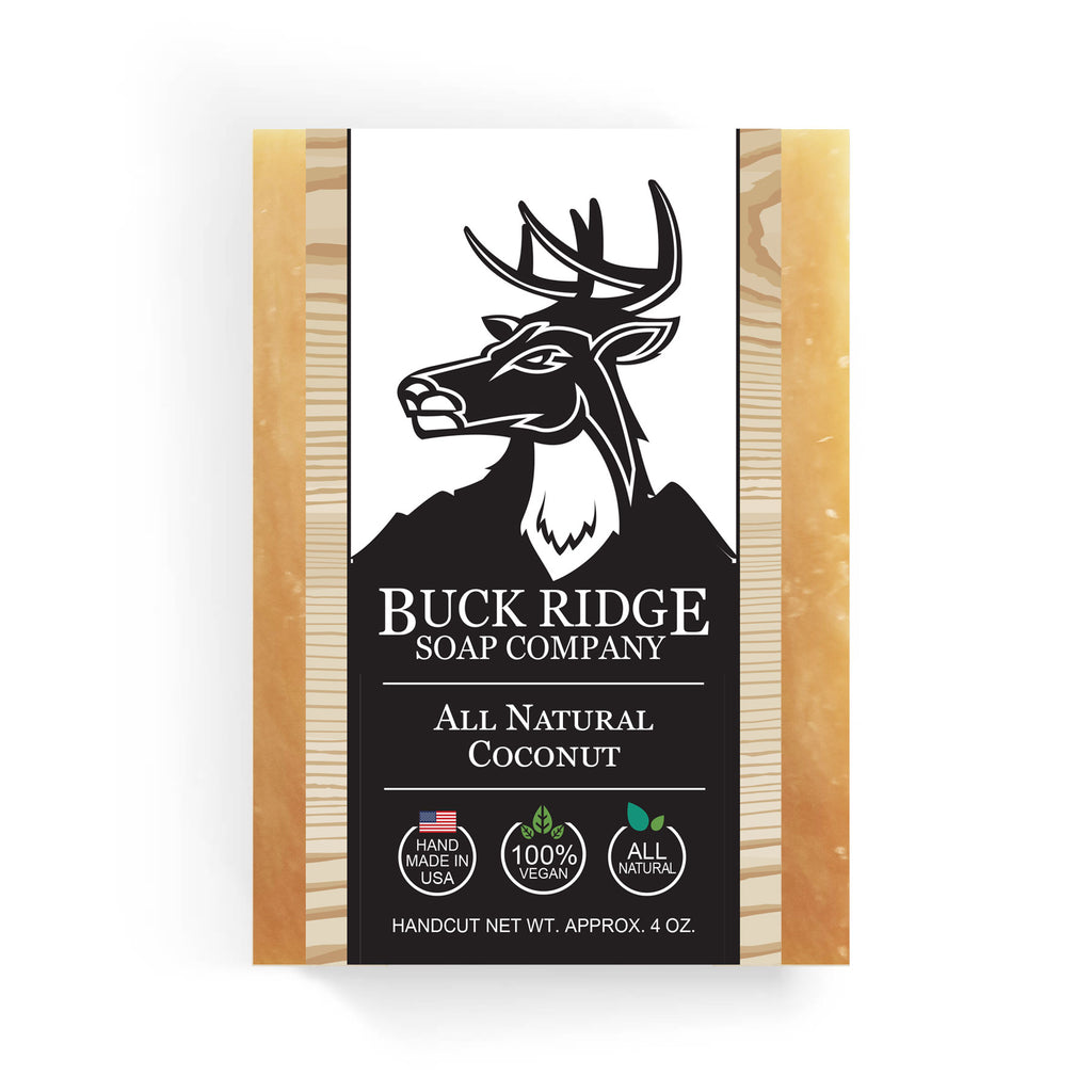 Buck Ridge Natural Handmade Vegan Soap - All Natural Coconut