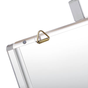 Women's Transparent Acrylic Clear Clasp Clutch - Clear