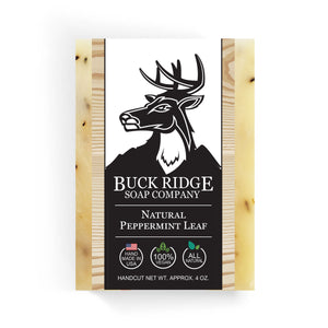 Buck Ridge Natural Handmade Vegan Soap - Natural Peppermint Leaf