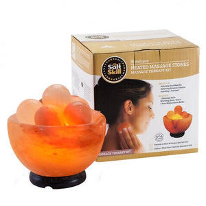 Round Natural Himalayan Crystal Salt Heated Massage Stones