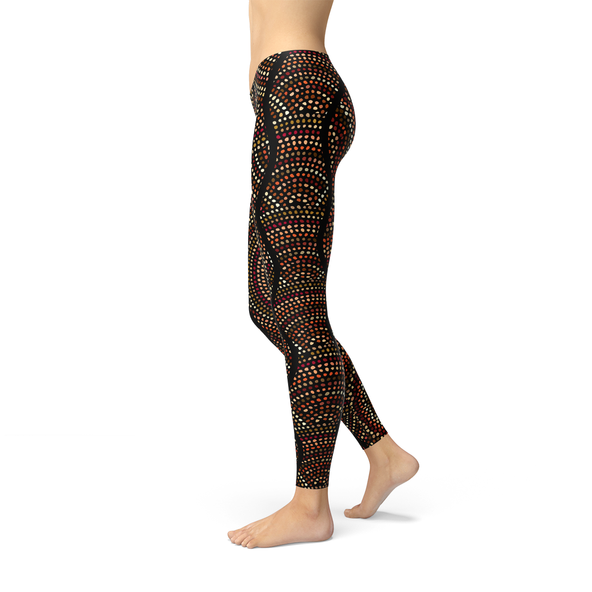 Women's Polka Dots Aboriginal Artwork Leggings (V2)