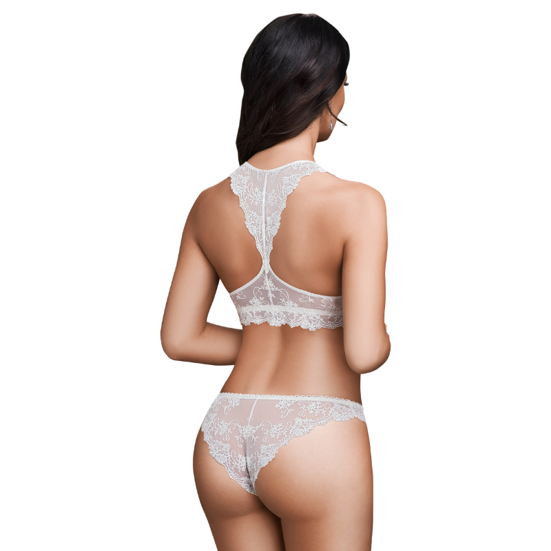 Delicate Lace Embroidered Bralette Stefi L Bridal