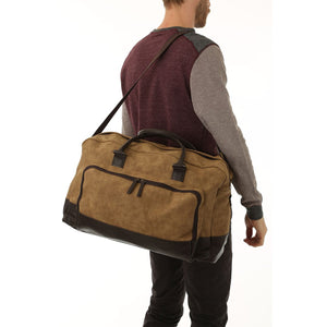 Marcel Two Tone Duffle Bag - Brown