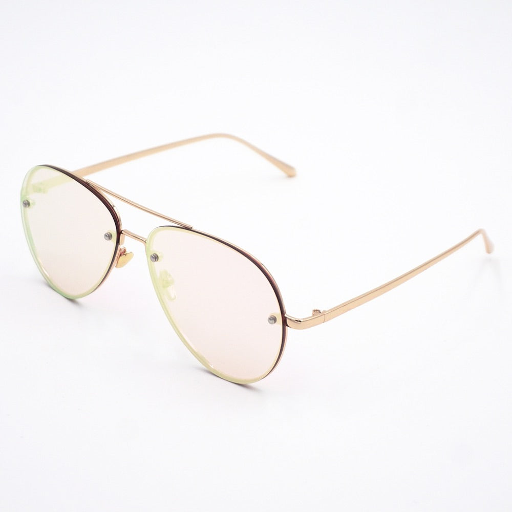 Flex Modern Aviator Pink Mirror Sunglasses