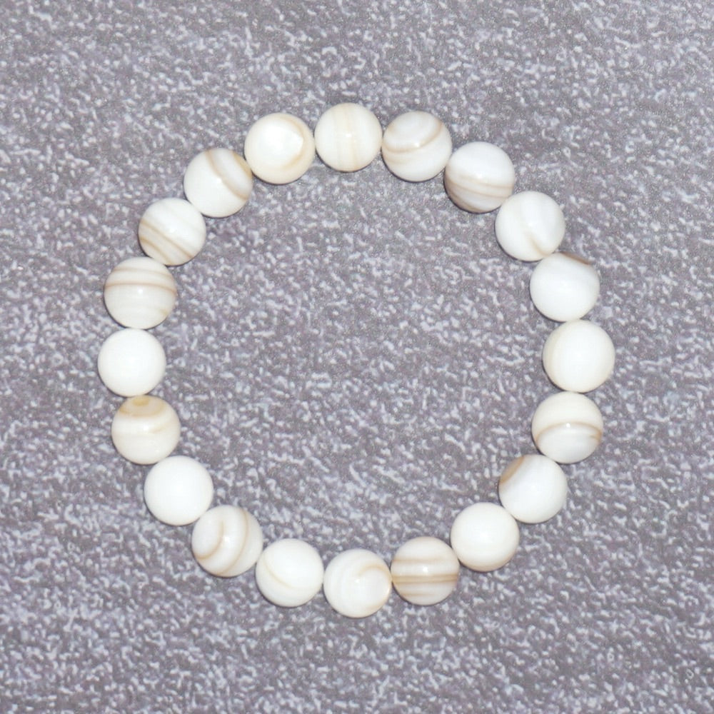 Women's New Age Pearl Stretch Bracelet