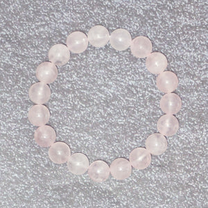 Women's Rose Quartz Stone Balancing Stretch Bracelet
