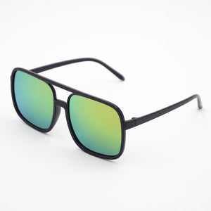 Flex Rectangular Colored Mirror Plastic Frames Sunglasses