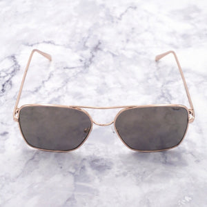 Men's Square Sunglasses - Rose Gold & Black