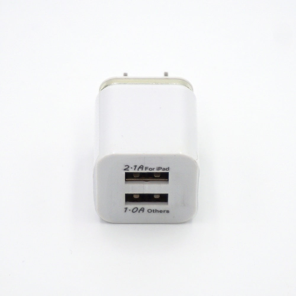 Dual USB Wall Power Outlet Adapter