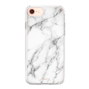 Casery iPhone Phone Case - New White Marble