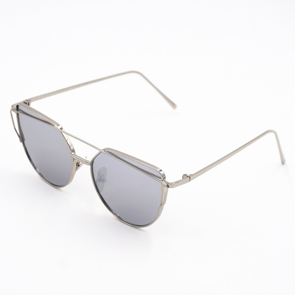 Flex Cat-eye Mirror Sunglasses